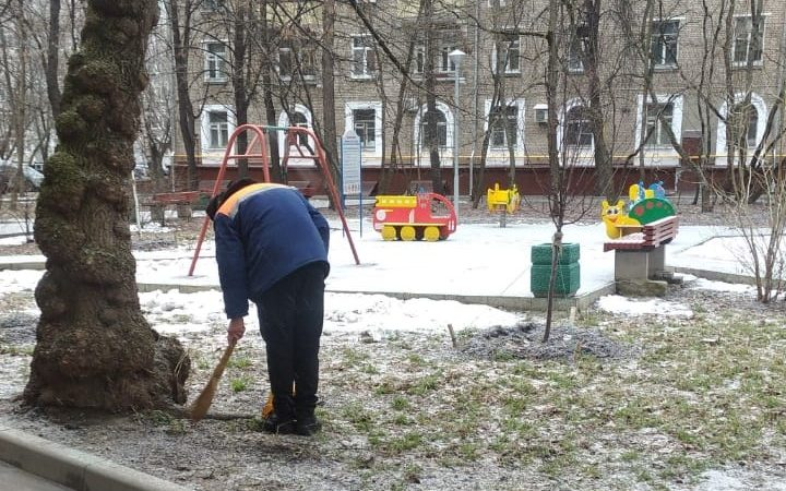 В Войковском районе прошел субботник